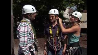 Uwe Wöllner beim Klettern Teil 1