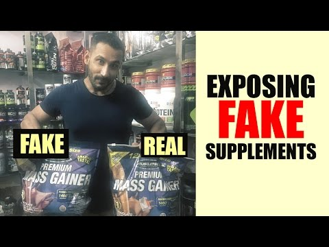 EXPOSED- Indian fake supplements
