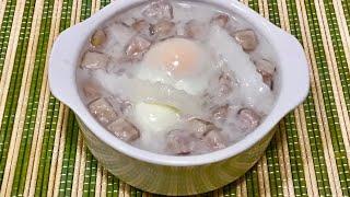 Taro Pearls, Sweet Egg & Young Coconut in Sweet Coconut Milk บัวลอยเผือกแก้วไข่หวานมะพร้าวอ่อน