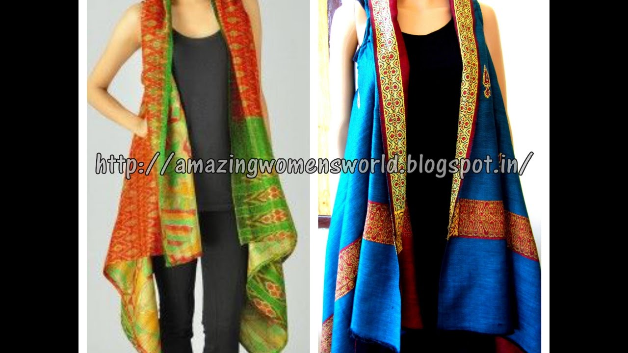 HOW TO CONVERT OLD SHAWL 2 CARDIGAN - EASY MAKING - DIY ...