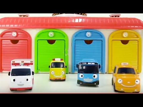 Carritos para niños - Tayo the Little Bus Toys - Carros - Ambulancia - Grúa - 타요 꼬마버스 장난감