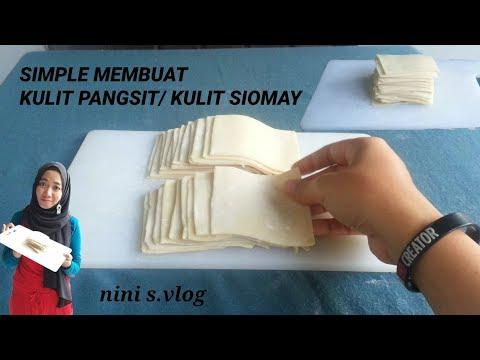 RESEP SIMPLE MEMBUAT KULIT PANGSIT KULIT SIOMAY KULIT LASAGNA