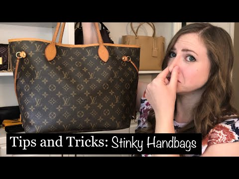*HOW TO* Remove Unwanted Odors From Handbags! Tips And Tricks!!