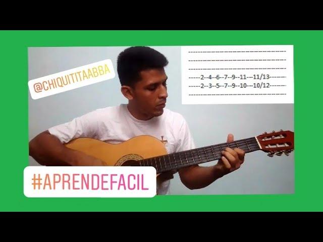 Aprende Como Tocar Chiquitita Grupo Abba En Guitarra Tutorial Para Principiantes 2019 Youtube