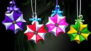 Paper Crafts For School | Christmas Crafts | Christmas Decorations Ideas | Christmas Star | 3D Star