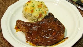 Pork Chops With Sweet And Tangy Mustard Sauce - Pan Seared Pork Chops