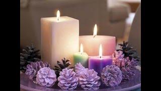 Новогодние свечи - оформление и декор праздничного стола