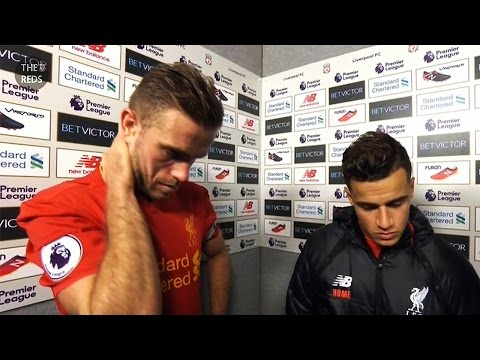 Liverpool 2:1 West Brom - Henderson and Coutinho post-match reaction
