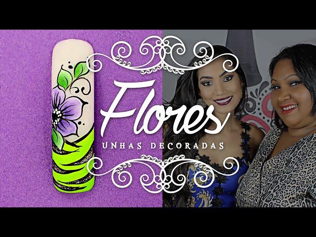 Unhas Decoradas com Flores em Carga Dupla para o Carnaval | Cola na Villar