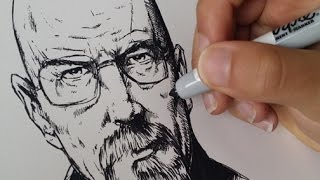 Drawing Walter White, Heisenberg from Breaking Bad