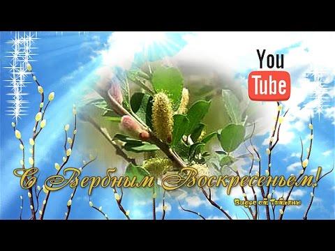 С Вербным Воскресеньем! Красивое поздравление - Познавательные и прикольные видеоролики