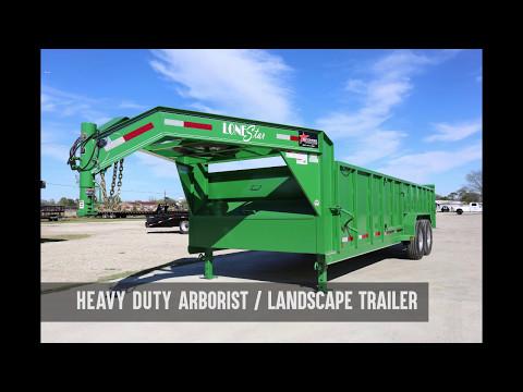 Green Landscaping Trailer