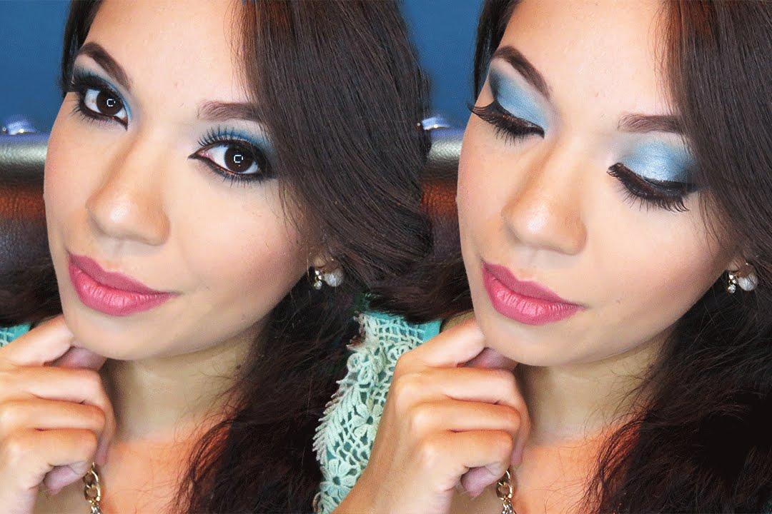 Como maquillarse para un vestido azul cielo