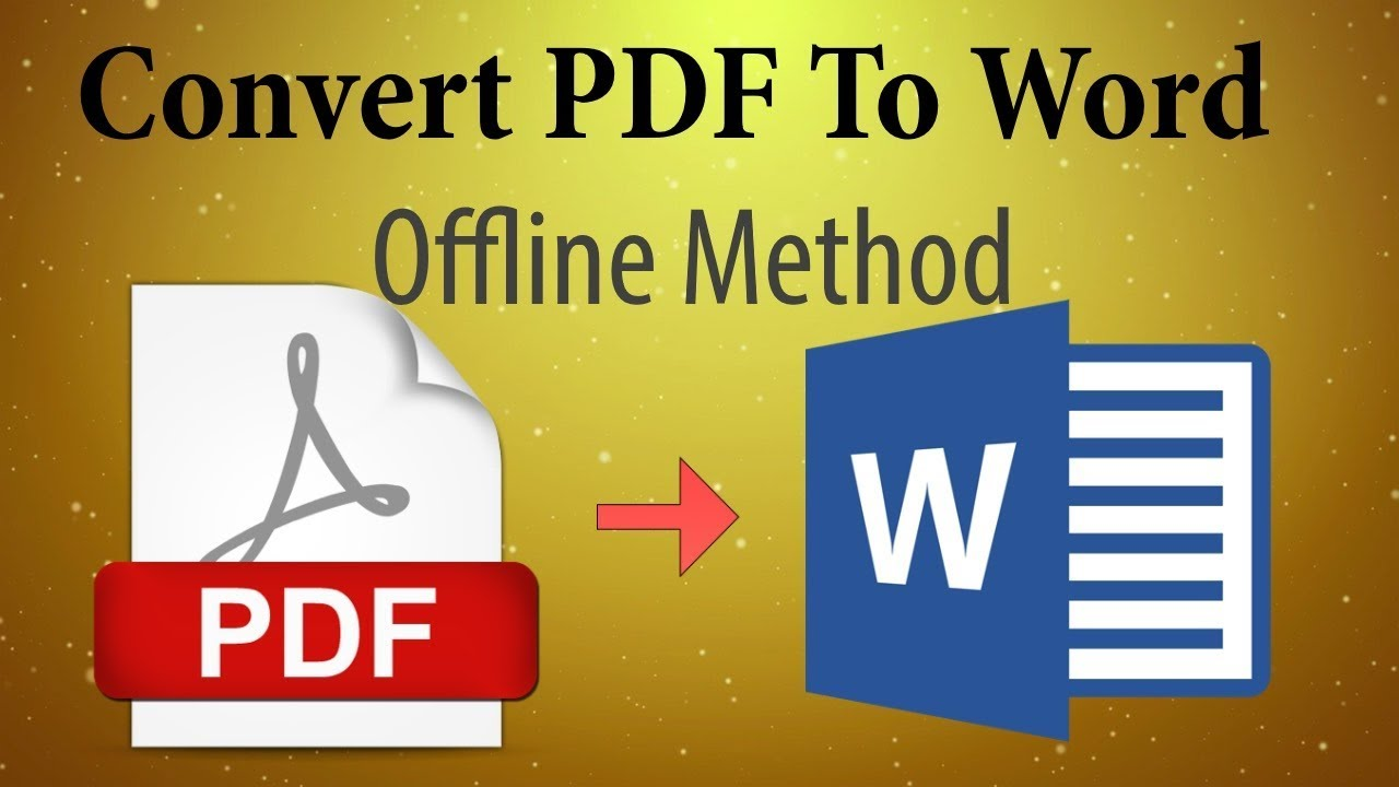 Word offline to pdf