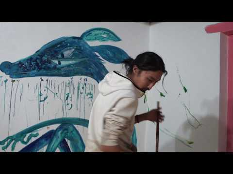 Yusuke Asai - PAINTING (finish up his room) at Earth Art Project in Ladakh 2017