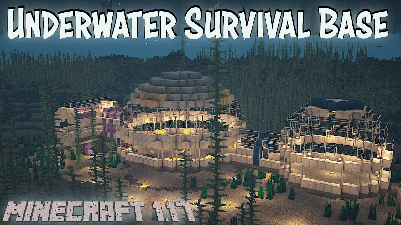 How to build an Underwater Base in Minecraft Survival | LegacySMP Survival Base (2021)