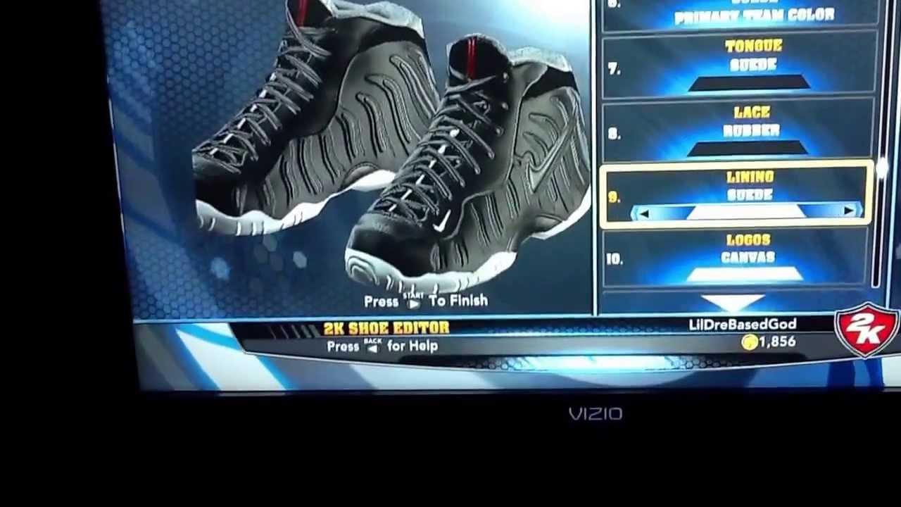 NBA 2K14 Shoe Editor  Nike Foamposite Pro