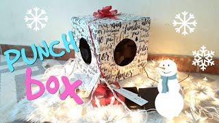 ♡ DIY ♡ PUNCH BOX DE NAVIDAD ♡ Detalles para regalar ♡ Regalo para mi novio
