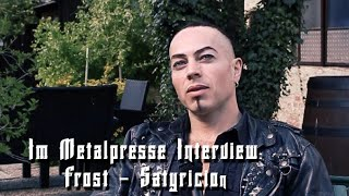 Satyricon: Interview mit Frost