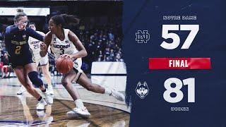 UConn Women's Basketball Highlights v. Notre Dame 12/08/2019