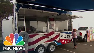 Santa Cruz County Brings 'Vote-Mobile' To Residents Displaced By Wildfires | NBC News NOW