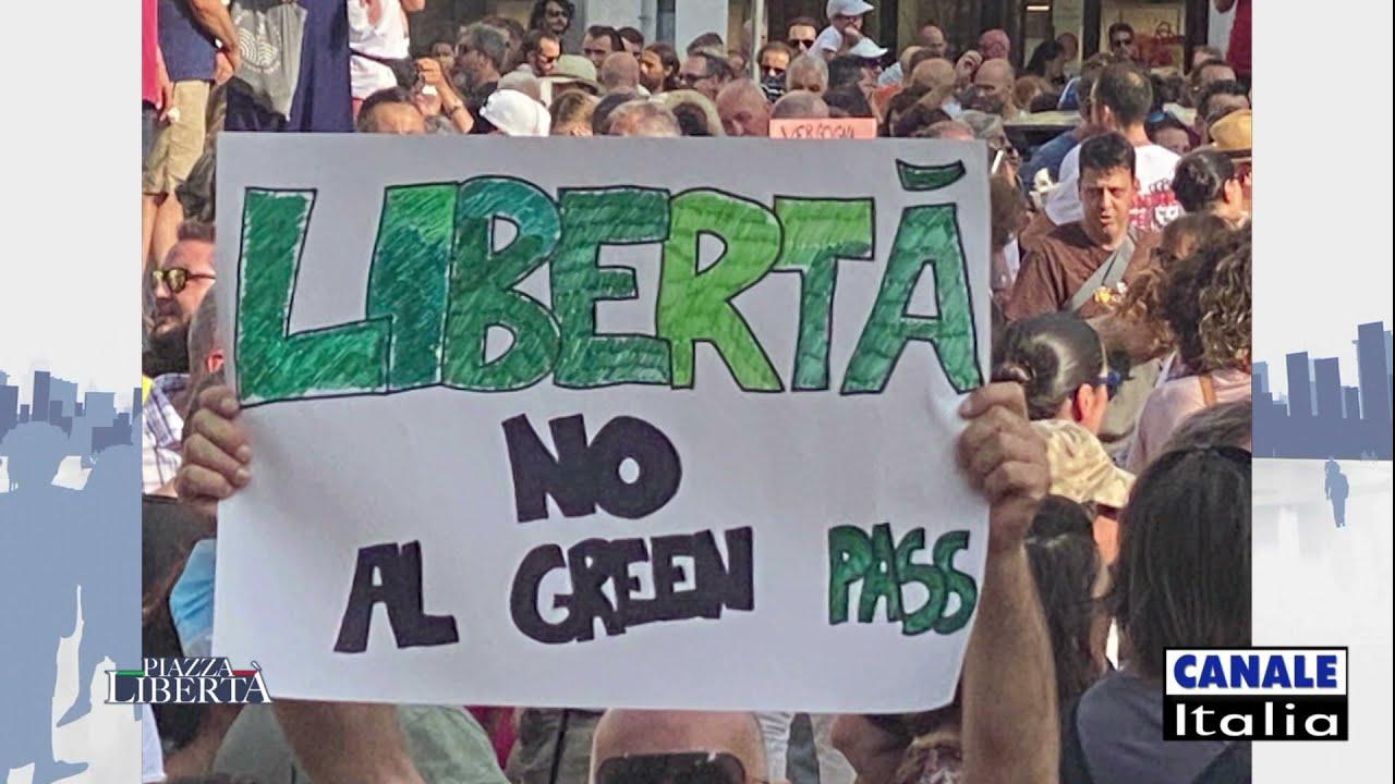 Manifestazione NO GREEN PASS Padova 24 luglio 2021   Canale Italia