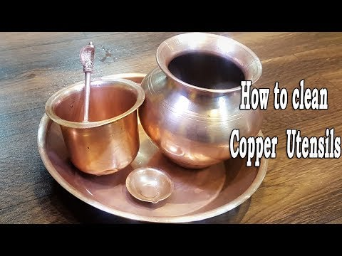 how to clean copper vessels at home | Simple Trick to Clean Copper Utensils | MadhurasRecipe