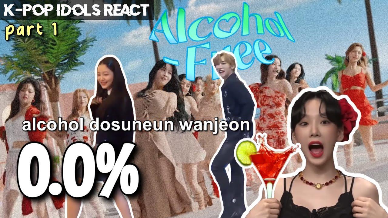 [K-POP IDOLS] React & Dance to TWICE 'Alcohol Free' | Red Velvet, TXT, StrayKids, ITZY, etc! Part 1