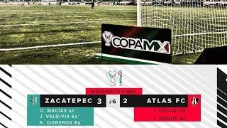 Zacatepec (3) vs atlas (2)  jornada 6 copa mx apertura 2018