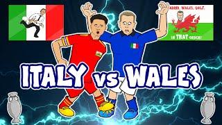😂Italy Vs Wales - Footballers React!😂 (1-0 Euro 2020 Pessina Goal Highlights Ampadu Red)