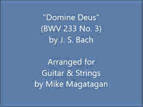 """Domine Deus"" from the Mass in F Major (BWV 233 No. 3) for Guitar & Strings"