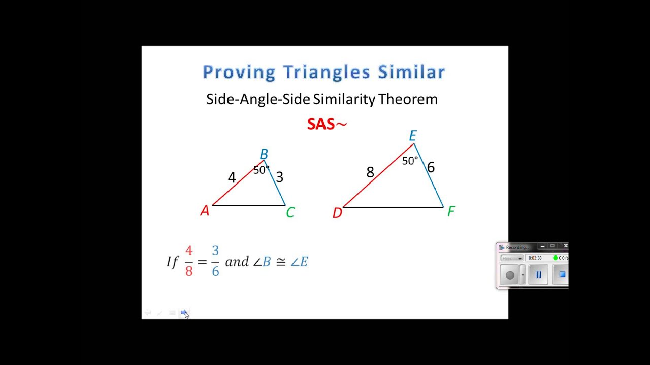 Geometry Lesson 73 Proving Triangles Similar Youtube