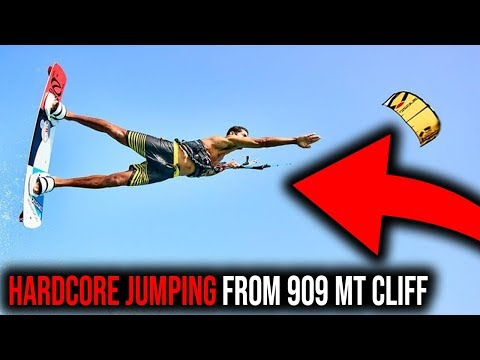 EPIC KITEBOARDING WORLD RECORD - JUMPING FROM 909 METERS CLI