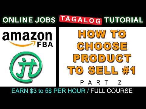 Amazon FBA How To Choose Product To Sell Part 1 Online Jobs Tutorials (ENG/SUB)