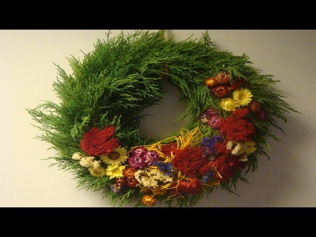 Türkränze Herbst bastelideen im herbst türkränze mit strohblumen selber machen