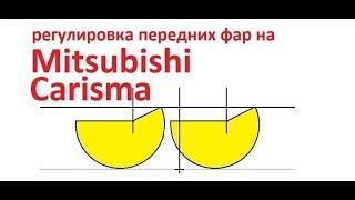 Лёха & регулировка передних фар на Misubishi Carisma