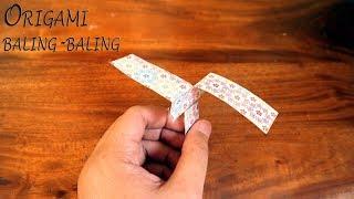 Tutorial origami baling-baling kertas mudah