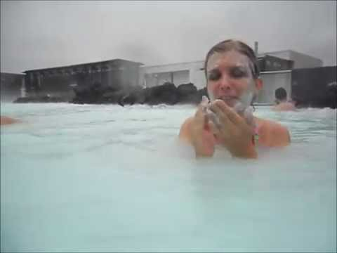 Silica mud mask at the Blue Lagoon in Iceland