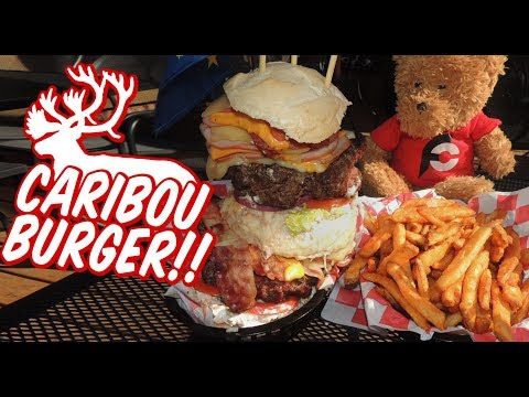 alaskan-caribou-burger-challenge-in-talkeetna!!-(from-man-v.-food)