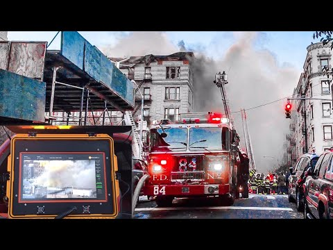 | 6th Alarm Box 1622 | FDNY Battles Heavy Fire Through Top Flr. In Hamilton Heights building, 144st