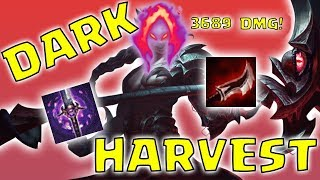 KAYN JUNGLE DARK HARVEST 3689 DAMAGE! - Preseason 8 Season 8 s8 Patch 7.22 Gameplay w/ Commentary