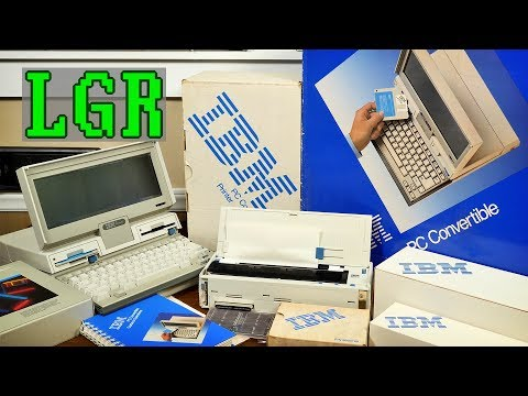 Setting Up An Unused 1986 IBM PC Convertible!