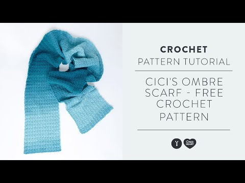 Cici's Ombre Scarf - Free Crochet Pattern