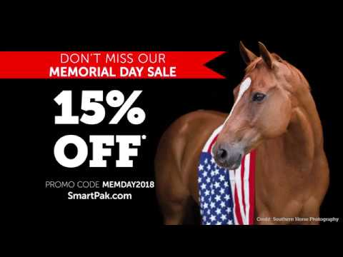 Save 15% during SmartPak's 2018 Memorial Day Sale