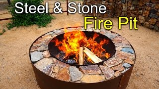 Diy Fire Pit With Steel & Stone