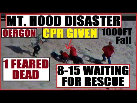 *BREAKING* TRAGEDY At Mt.HOOD VOLCANO OREGON 1 Feared Dead in ICE FALL 8-15 Need RESCUE B4 Storm