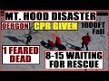 *BREAKING* TRAGEDY At Mt.HOOD VOLCANO OREGON 1 Dead in ICE FALL 8-15 Need RESCUE B4 Storm