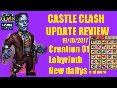 Castle Clash Halloween Update Review 19/10/17  Creation 01, Labyrinth, New Daily Rewards And More