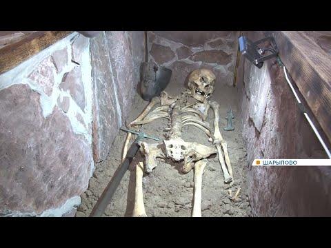 В музее Шарыпова посетителям впервые показали останки древнего человека