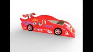 Sport Car Bed 3d Model Video Preview 360 Degree